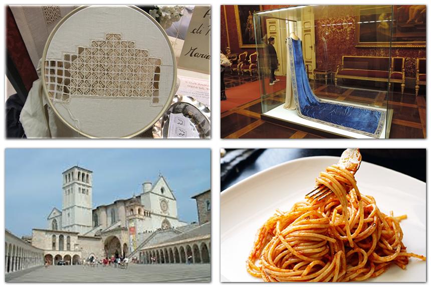 イタリア 伝統刺繍と世界遺産